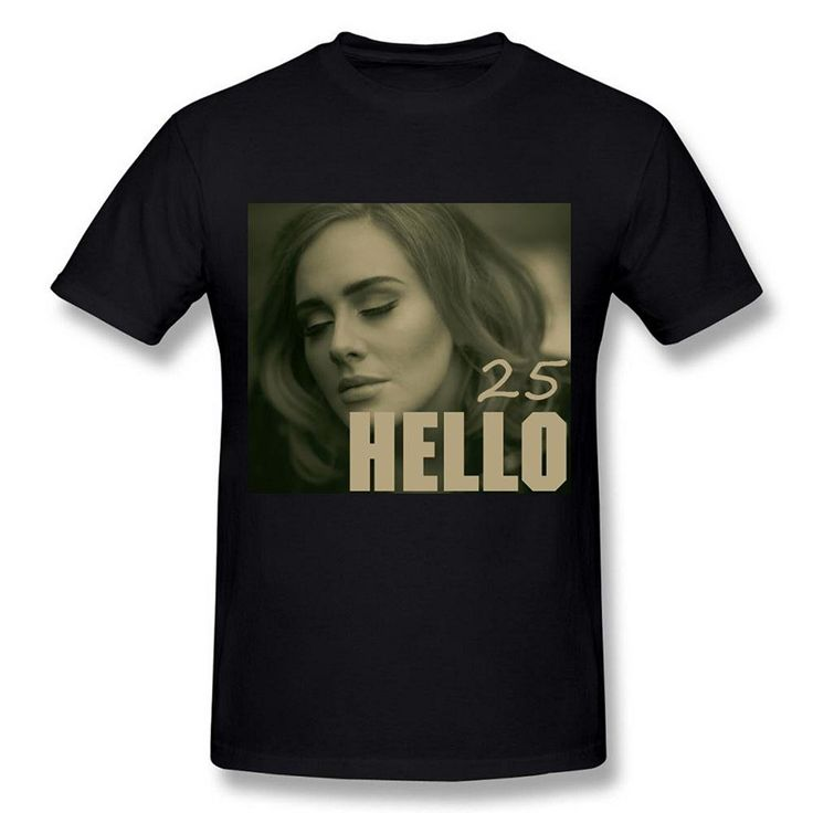 >> Click to Buy << Gildan Fashion  Men's Adele 25 Album Hello Cover Poster Black T shirt #Affiliate