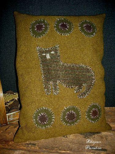 Cat Penny Wool Pillow Pine Shaving Stuffed