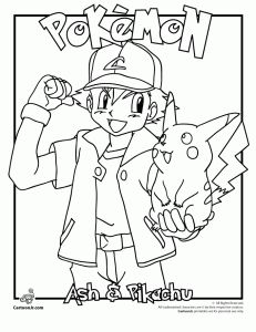 Pokemon colouring pages and printable crafts