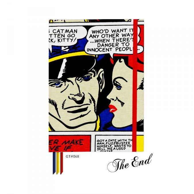 Cuaderno GT#68. Tamaño: 16 x 21 cm. Tapa dura forrada con tela estampada. 100 hojas lisas Bookcell de 80 gr. 3 Cintas señaladoras en combinación. Elástico sujetador a tono.