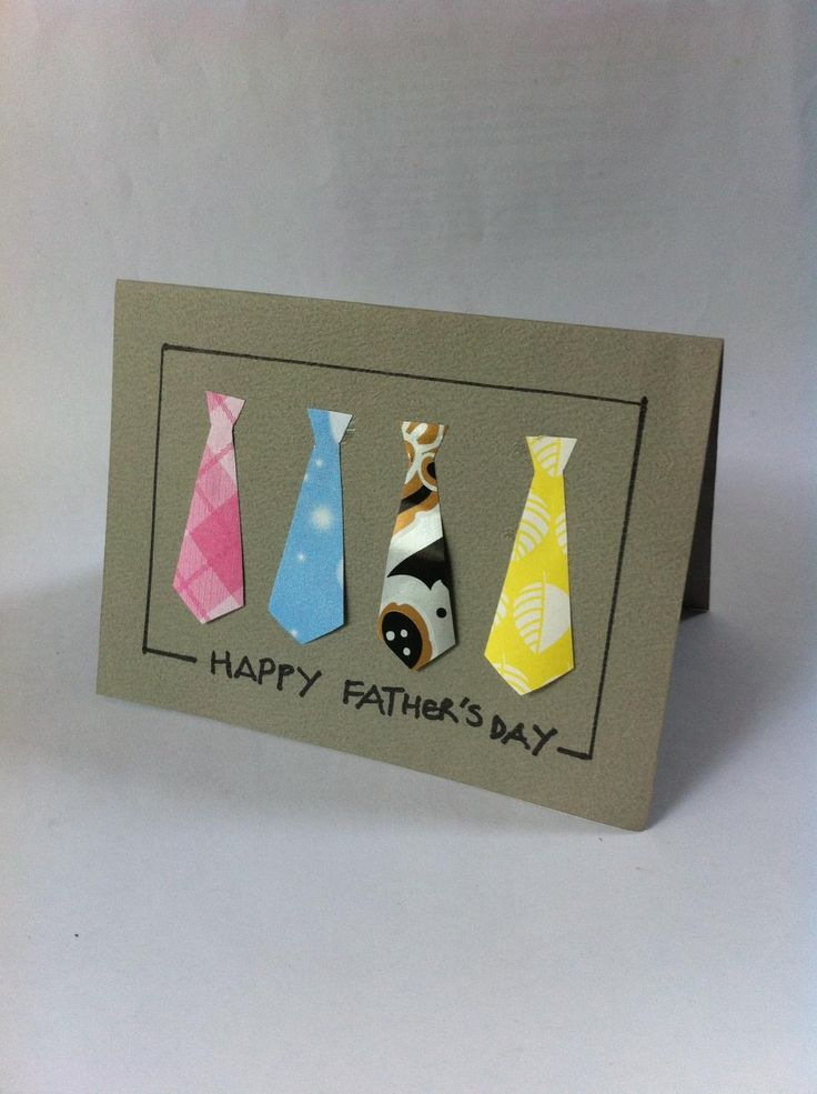 DIY Necktie Father's Day Card