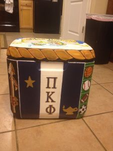 Painted Cooler Tutorial - Pi Kappa Phi Painted Cooler