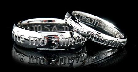 I am my beloved's and my beloved is mine wedding rings in gaelic.