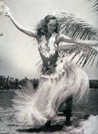 Vintage Tahitian Dancer