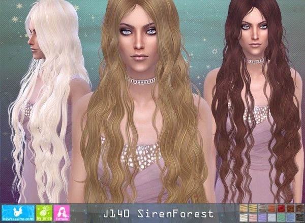 NewSea: J140 Siren Forest donation hairstyle • Sims 4 Downloads