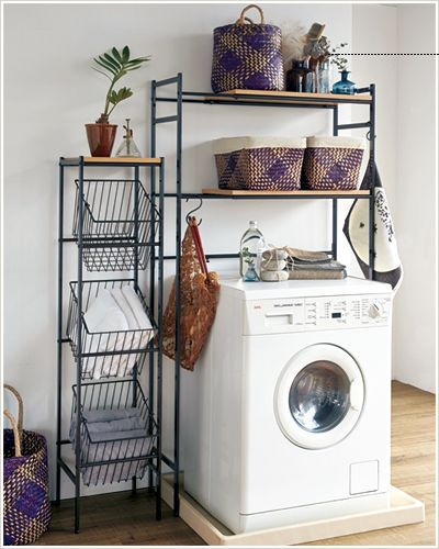 Laundry 毎日のお洗濯、もっと楽しく♪|スタイル提案型インテリア ... Natura ランドリーラック チャコール