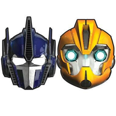 The kids will love to dress like their favorite Transformers with one of these Transformers Masks! Includes 8 paper masks in two different styles.Includes (8) themed paper masks in 2 different styles.