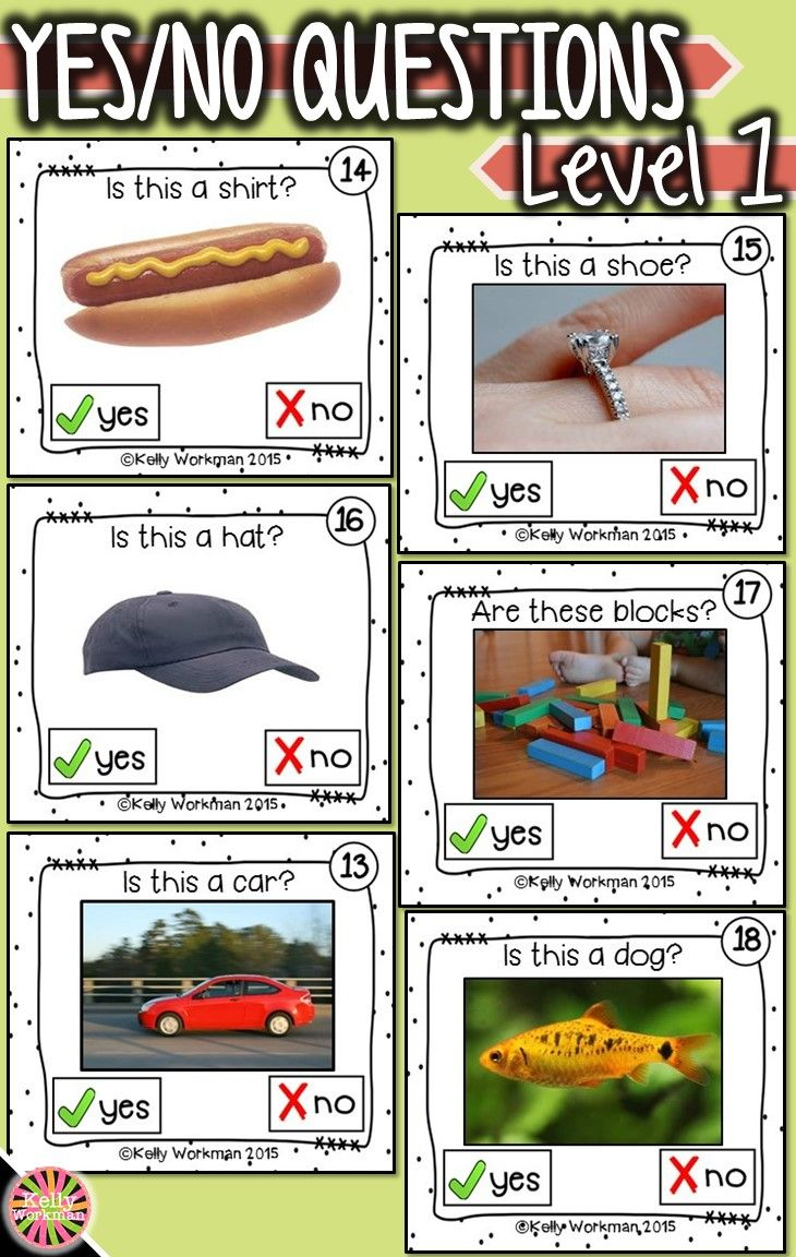 Need materials to help students answer basic yes – no questions? Develop this early language skill by using photo flashcards which are perfect for speech therapy, special education, autism, ELL, and Preschool. Click to see the full set and to download a free guide for flashcard games and activities!