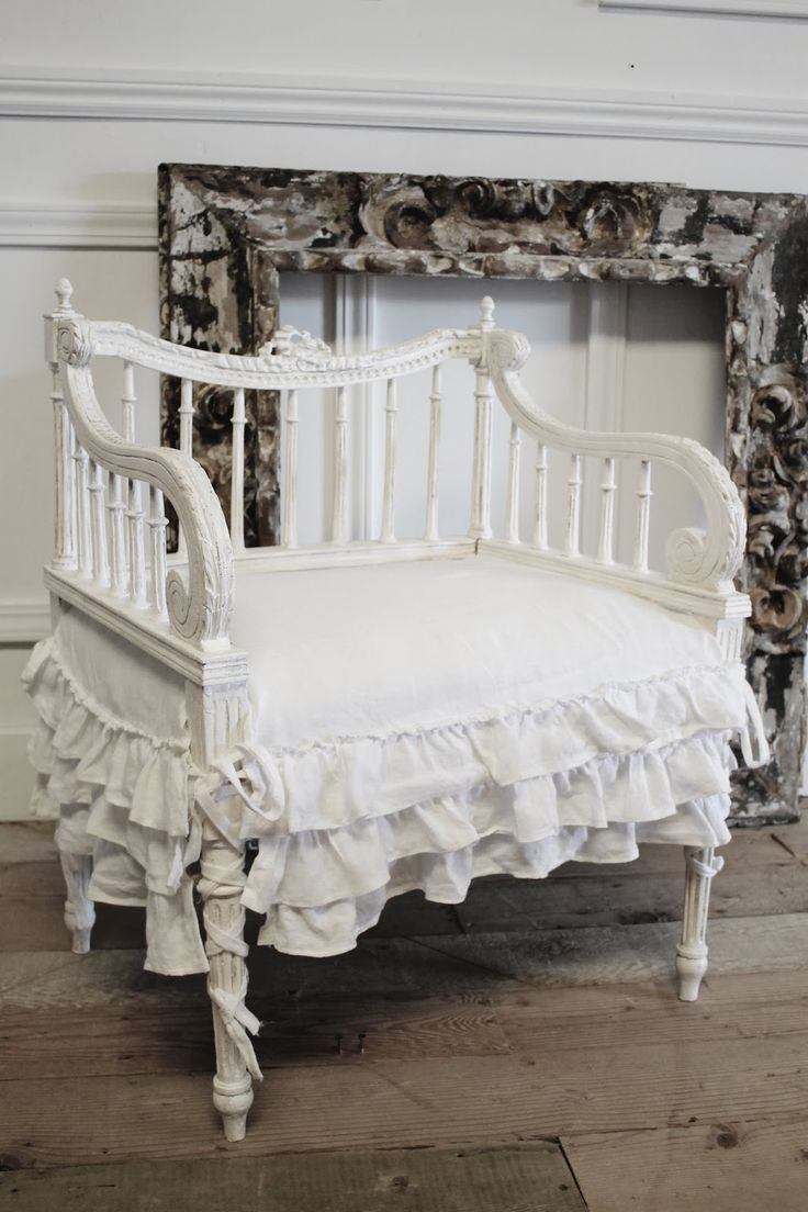 Simply Shabby Chic Chair Pads : 7885 best images about Antique&White on Pinterest Shabby chic, Shabby chic white and Dress form
