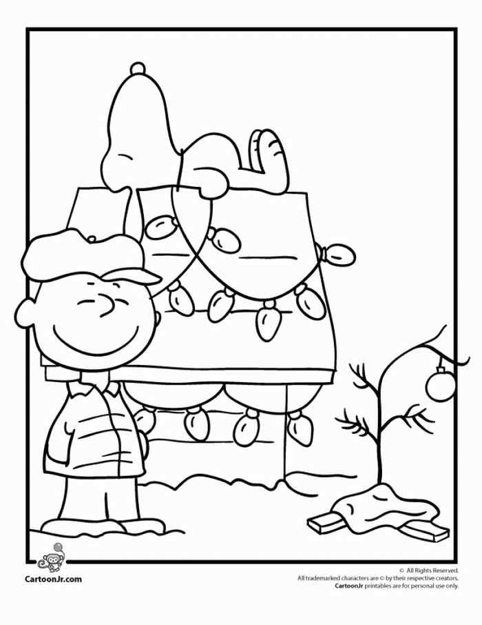 Charlie Brown Christmas Coloring Page Christmas Colors Snoopy Christmas Coloring Pages