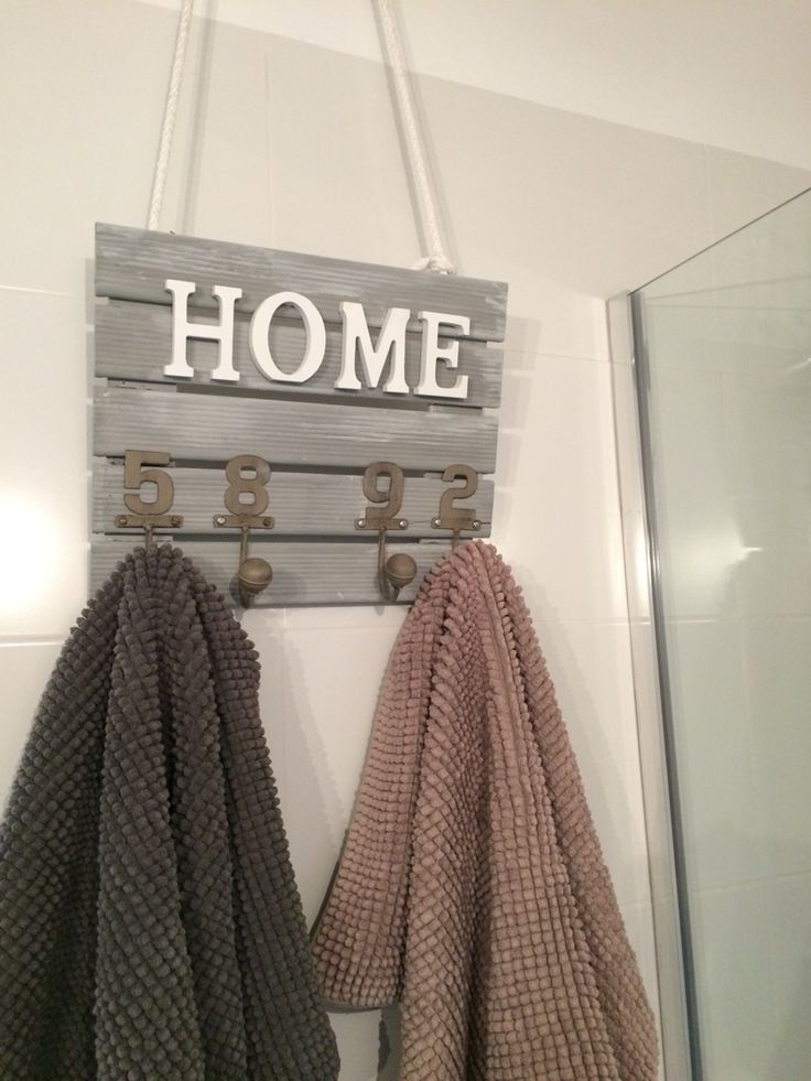 Perchero de pared para las toallas decora mi ba o - Percheros para banos ...