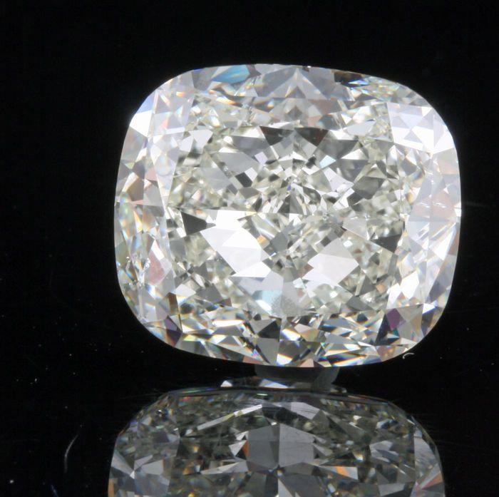 Catawiki Online-Auktionshaus: Wunderschöner 10,38kt Diamant im Kissenschliff I/SI1  VG/VG