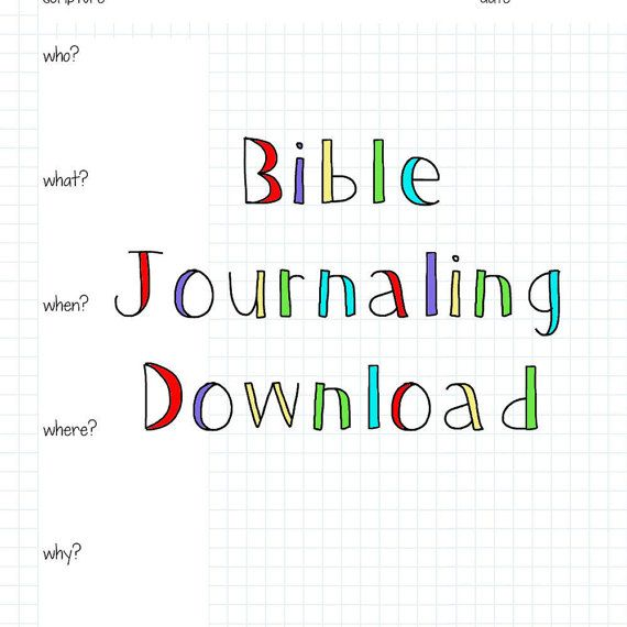 Bible Journal Pages Download by FarmGirlJournals on Etsy