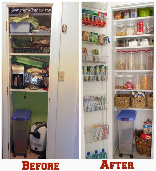 Tiny Kitchen Storage Ideas: 96 Best Images About Organization -Pantry On Pinterest