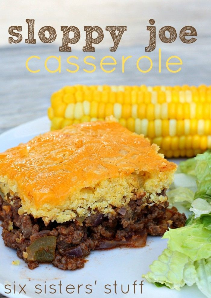 Cornbread Sloppy Joe Casserole Recipe