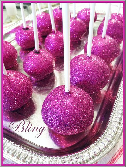 Beautiful cake balls!
