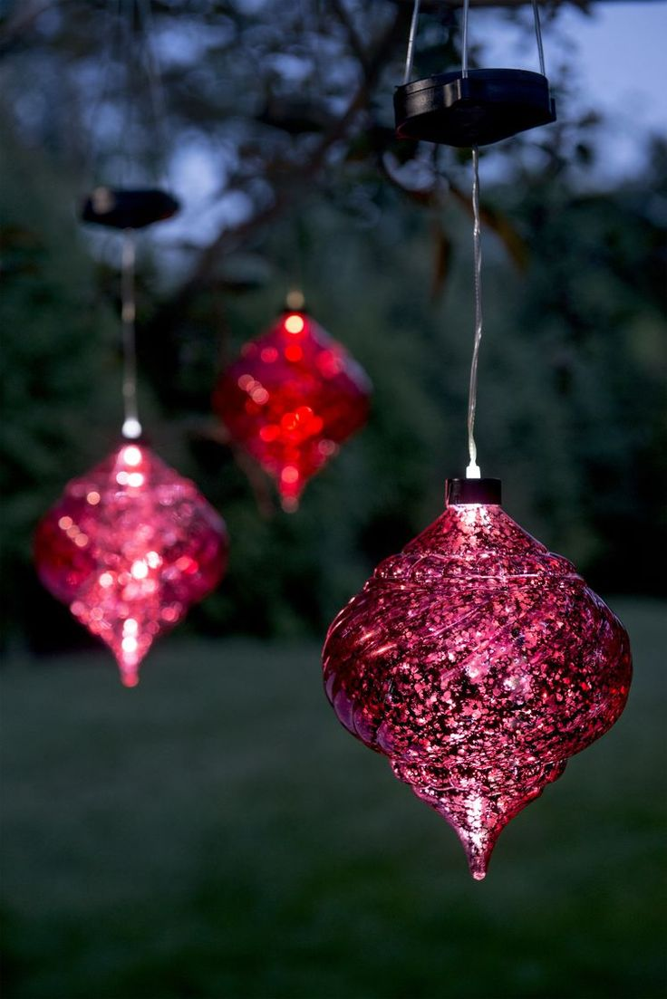 Giant outdoor lighted ornaments - Large Outdoor Christmas Ornaments Hanging Onion Solar Ornament