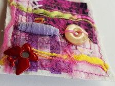Modern Textil Brooch made by Beata Maria Zdyb