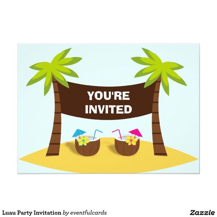 die besten 25+ luau geburtstags einladungen ideen auf pinterest, Einladung