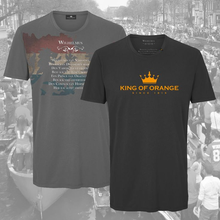 King of Orange Kingsday t-shirts. Dark grey: 45,- euro, black t-shirt: 35,- euro.