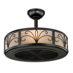 Turn Of The Century Athens 21 in.New Bronze Ceiling Fan---would LOVE this in baby girl's room!!! Gorgeous, and it doesn't even look like a fan!