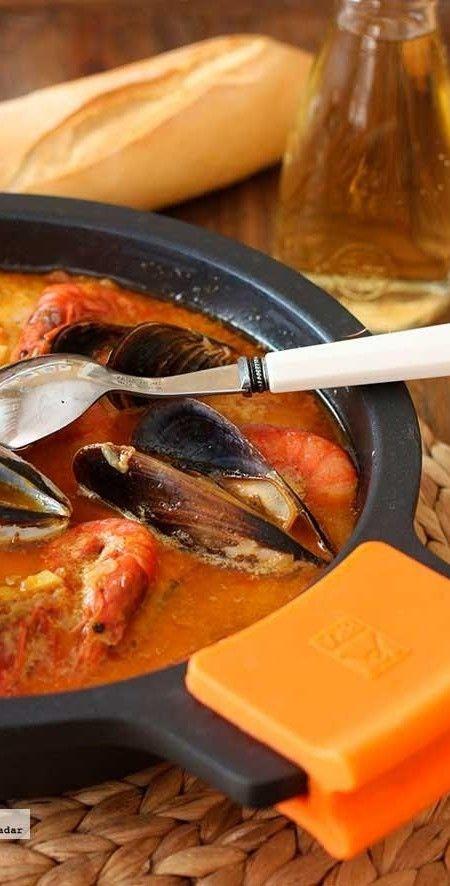 Cazuela de pescado y marisco. Receta