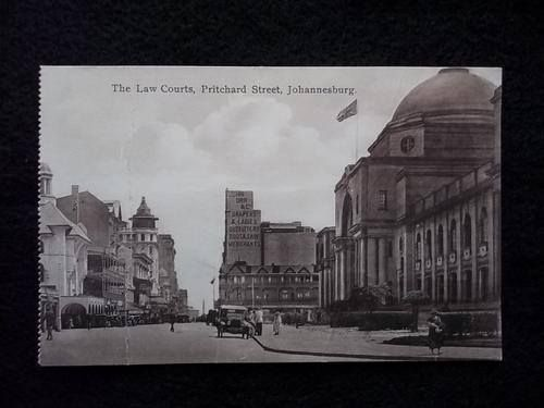 The law courts, Pritchard Street in days gone by.