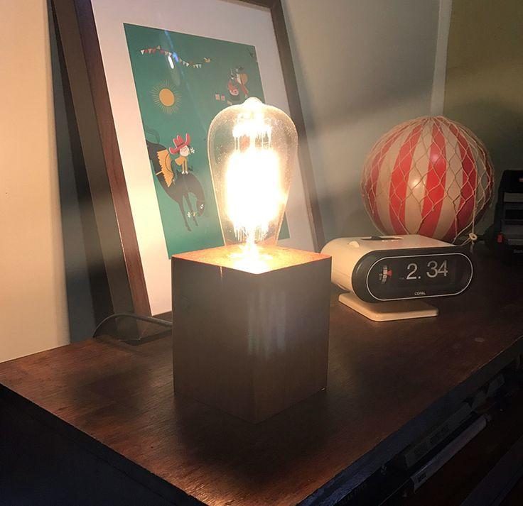 DIY Retro Desk Light