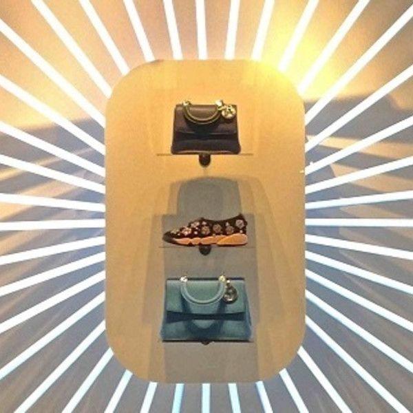 VM choice: White neon window focus for Dior - Retail Design World