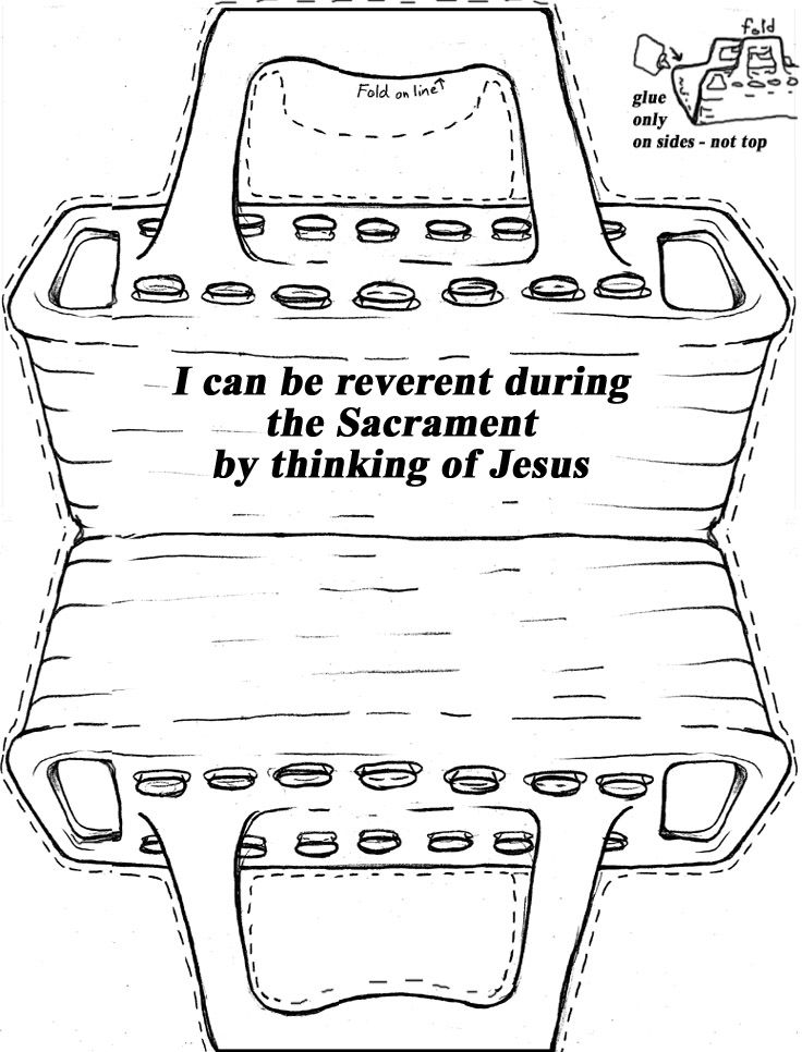 lds coloring pages sacrament - i will remember jesus christ during the sacrament