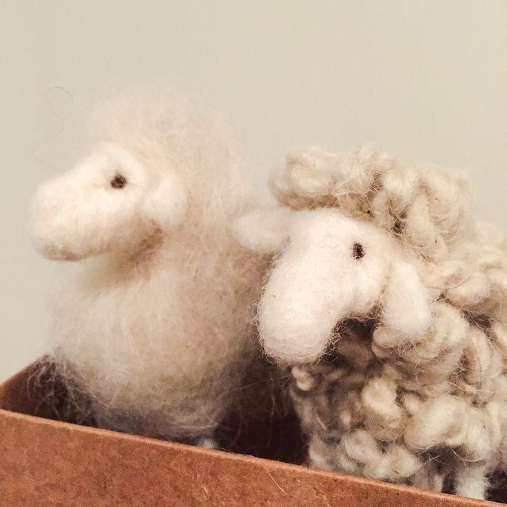 Neddle felted sheeps / nålefilta sauer