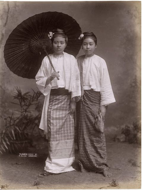 Burmese Girls - Rangoon , Burma (Myanmar) c1880s -Tumblr