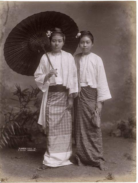 Burmese Girls - Rangoon , Burma (Myanmar) c1880s -Tumblr