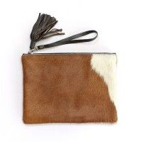 Jem Brown and White Clutch by Mooi