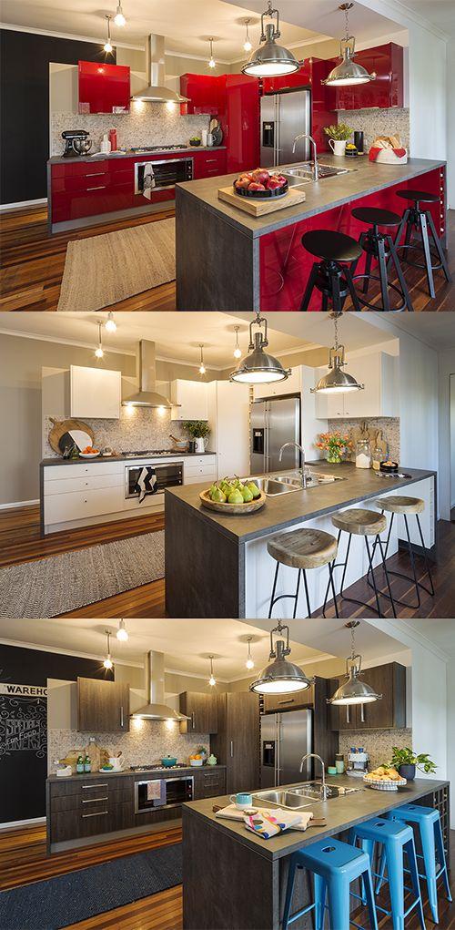 kitchen makeover 3 ways better homes and gardens taradennis. beautiful ideas. Home Design Ideas
