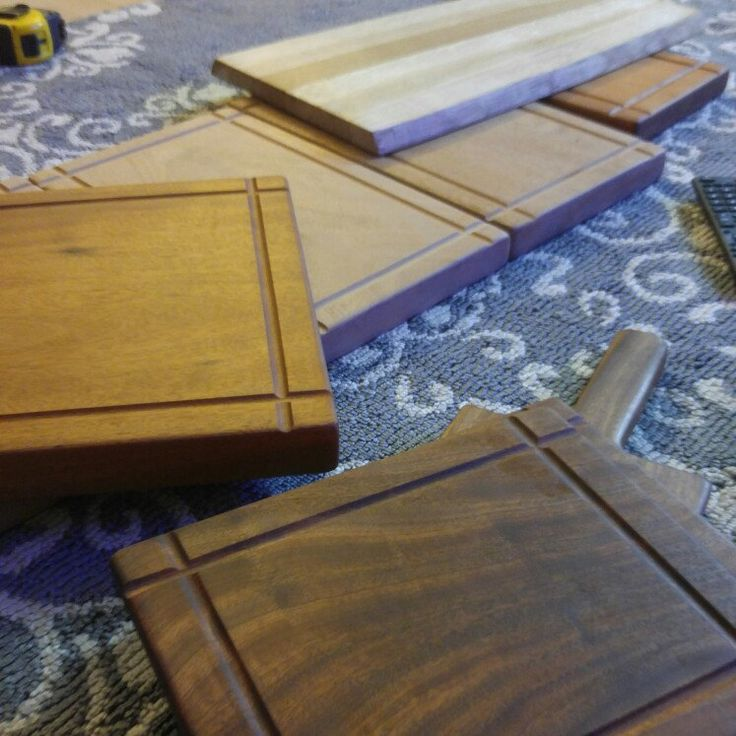 Oiling up some new cutting boards with cold pressed organic coconut oil before posting!