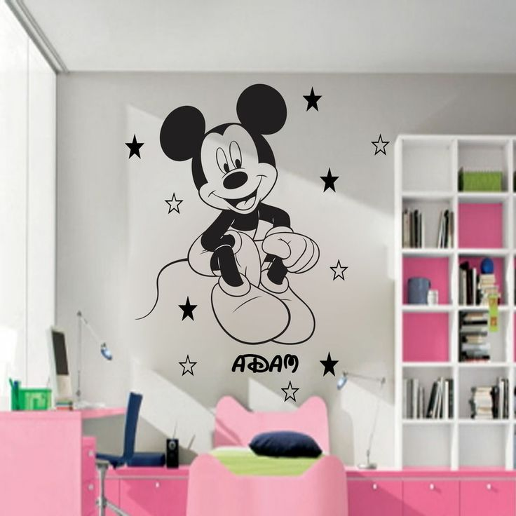 Disney Mickey Mouse Personalised Wall Sticker Art Decal Mural Vinyl 20  Stars D11 Part 35