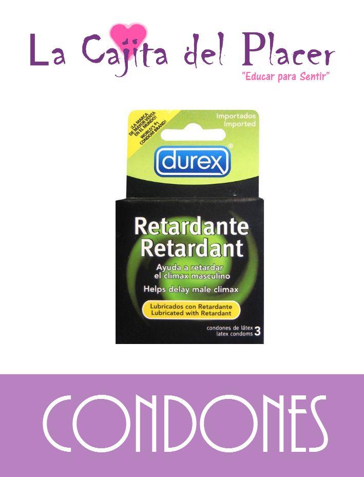 Dura más, con estos condones DUREX-Retardante, no te vengas en 5 minutos, este condón con su lubricante especial te ayudará a postergar tu climax, y te dará tiempo para hacer feliz a tu pareja.  Incluso te ayuda a postergar tu erección y mejora la firmeza de la misma.  Precio Cajita: $45