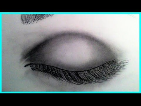 How to draw a closed eye (realistic)