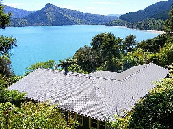 Marlborough/Marlborough Sounds/Mahau Sound holiday home rental accommodation - The Boatshed - Mahau Sounds Holiday Home