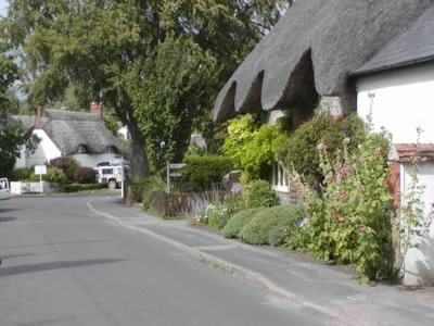 Abbotts Ann, Hampshire England  Lots of thatched roof cottages