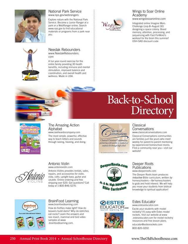64 best directories images on pinterest homeschool back to school directory the old schoolhouse magazine 2014 annual print book page 250 fandeluxe Image collections