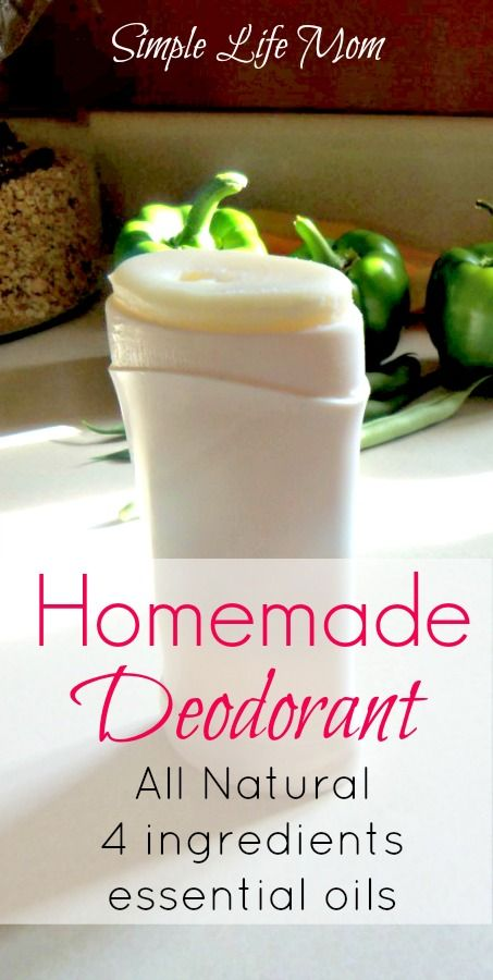 Homemade Deodorant with all natural ingredients from Simple Life Mom