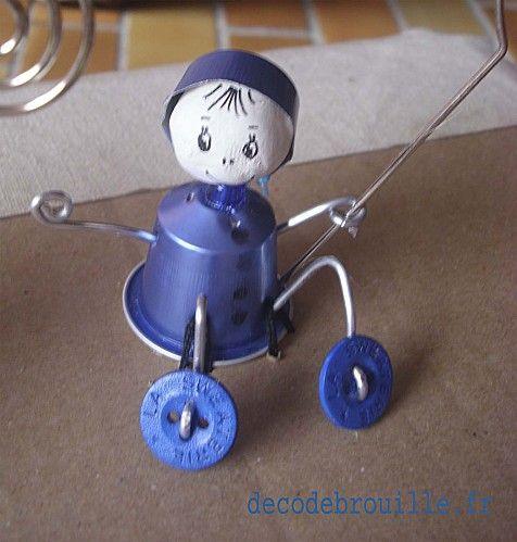 Bonhomme bleu pompon diy pinterest recherche - Que faire avec des capsules de cafe ...