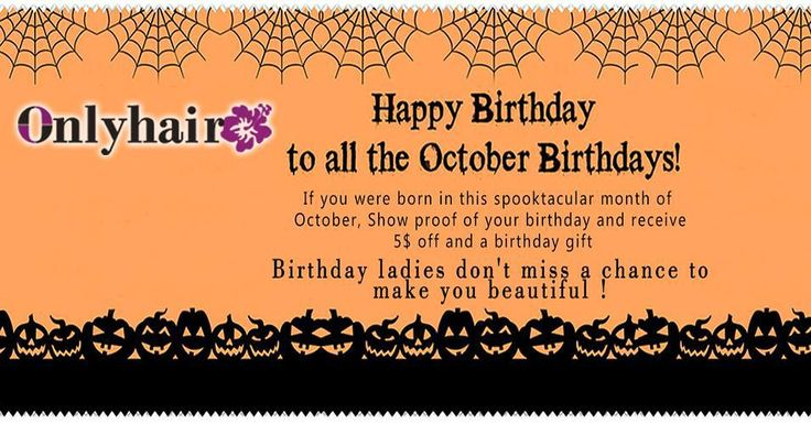 Happy birthday to you if you were born in this spooktacular month of October show proof of your birthday and receive $5 off and a birthday gift DM me for more information Email: vickie@onlyladyhair.com Whatsapp: 8618565598638 #birthday #beauty #halloween #celebrity #celebrityhair #kinky #deepwave #waterwave #wavy #brazilianhair #peruvianhair #malaysianhair #virginhair #humanhair #hairextension #hairsalon #hairstyle #stylish