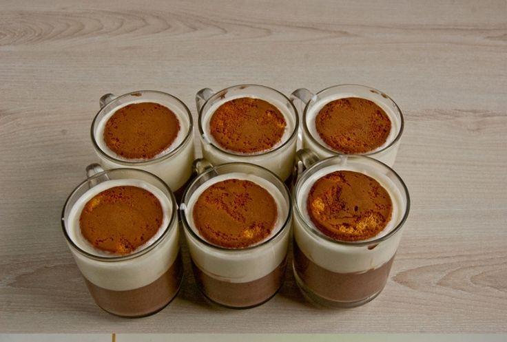 Lávový dortík-Nepečený šlehačkový dezert s karamelem krok 6