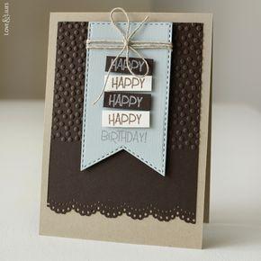 Handmade: Geburtstagskarte für den Mann // Geburt…