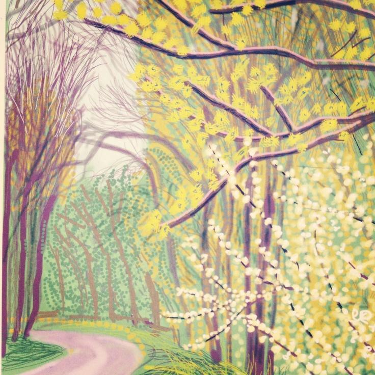 David Hockney Postcard