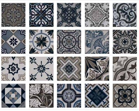 Carrelage sol et mur imitation carreau ciment 22 5 x 22 5 for Carrelage a motif cuisine