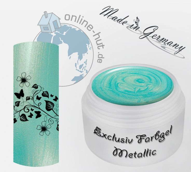 5ml UV Exclusiv Farbgel Neu Golden Petrol Metallic